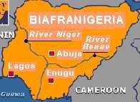 Map of BiafraNigeria